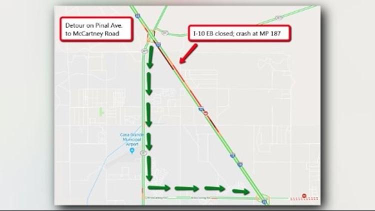 Map Of I 10 Arizona.I 10 Reopened Near Casa Grande After Fatal Wrong Way Crash 12news Com