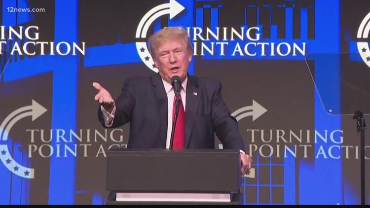 Former President Trump leads Phoenix rally