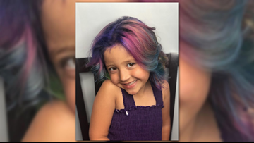 4-year-old with cancer from Arizona gets her hair dyed rainbow to send a message