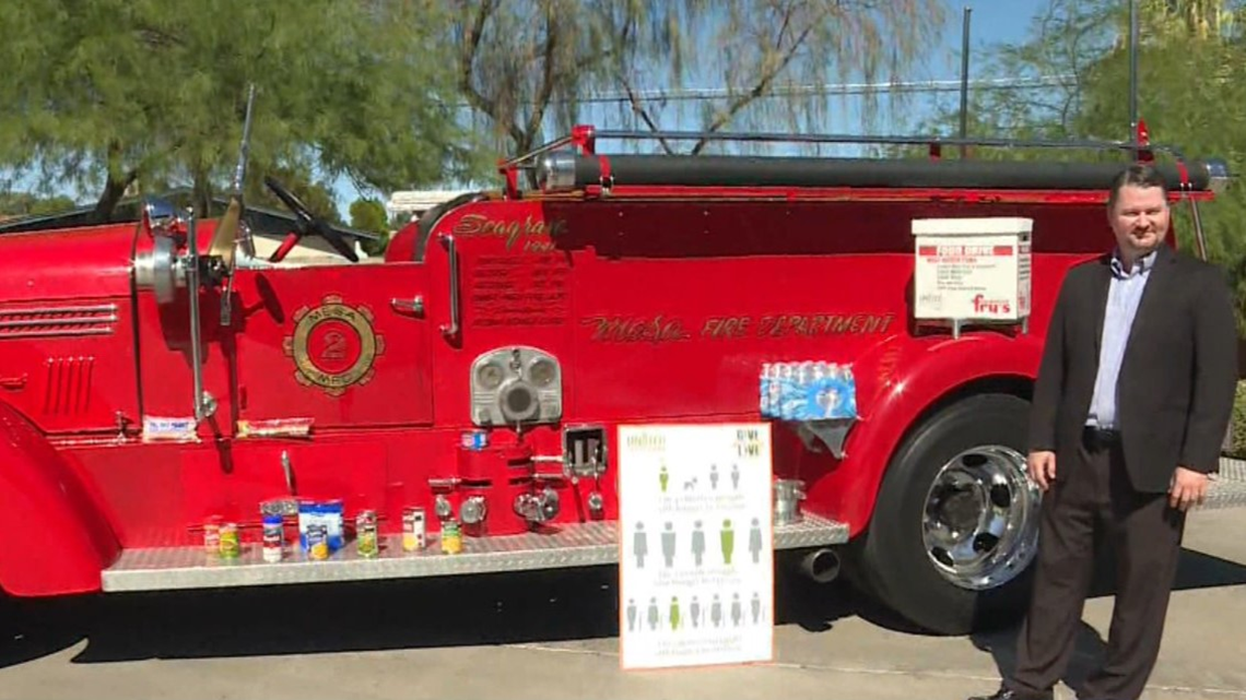 United Food Bank Hoping To Fill Historic Fire Truck With