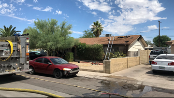 Phoenix FD: House catches fire while owner burns weeds