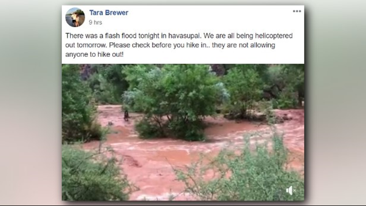 Officials with the Havasupai Tribe say their reservation was hit with two rounds of flooding Wednesday and early Thursday.