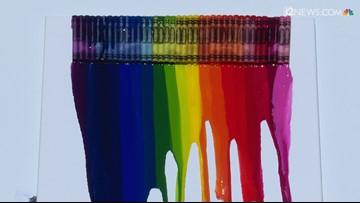 VIDEO: Watch crayons melt in 116 degree heat in Phoenix