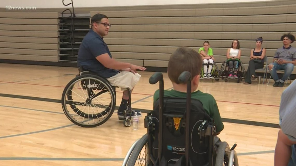 'Like a new pair of Jordans': Athlete surprised with custom basketball wheelchair in emotional setup