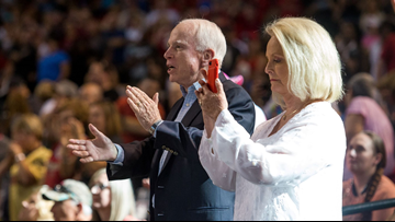 WATCH: McCain, a big Diamondbacks fan, honored at game Sunday