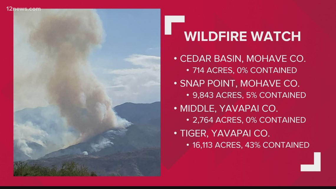 Wildfires in Arizona: Morning update for July 12