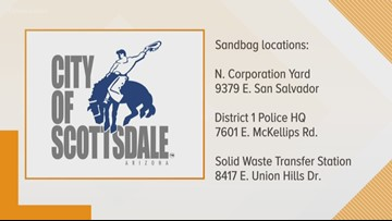 Fill up your sandbags in Scottsdale