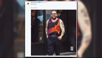 What Phoenix Suns jersey was Jonah Hill seen wearing around New York City?