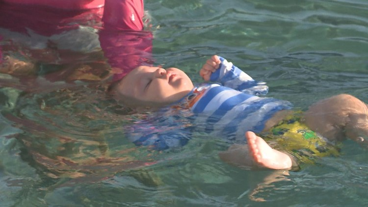 Valley kids take survival swim lessons to become water-safe year-round