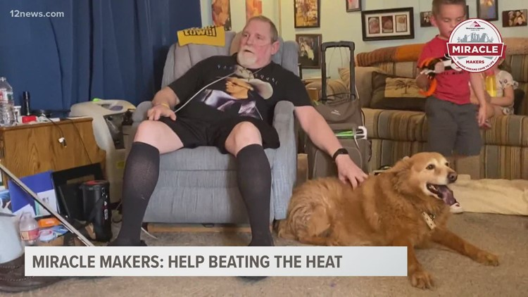 Miracle Makers: Single dad gifted air conditioner as he battles multiple health issues