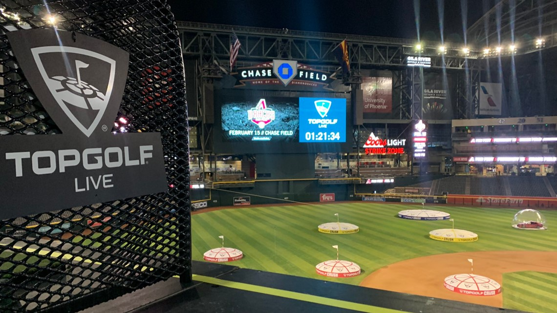 Chase Field transformed into driving range for Topgolf Live