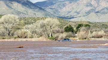 Teen rescued from flooded creek