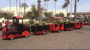 Trackless kiddie train stolen from party equipment rental service in Mesa