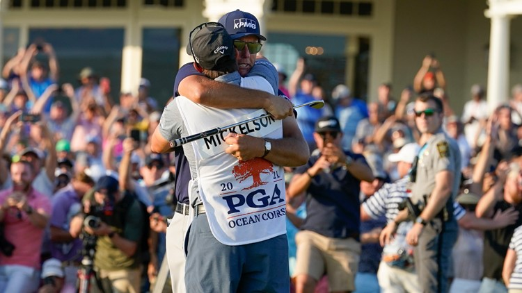 1-on-1 with Phil Mickelson's caddie and brother Tim Mickelson after historic PGA Championship win