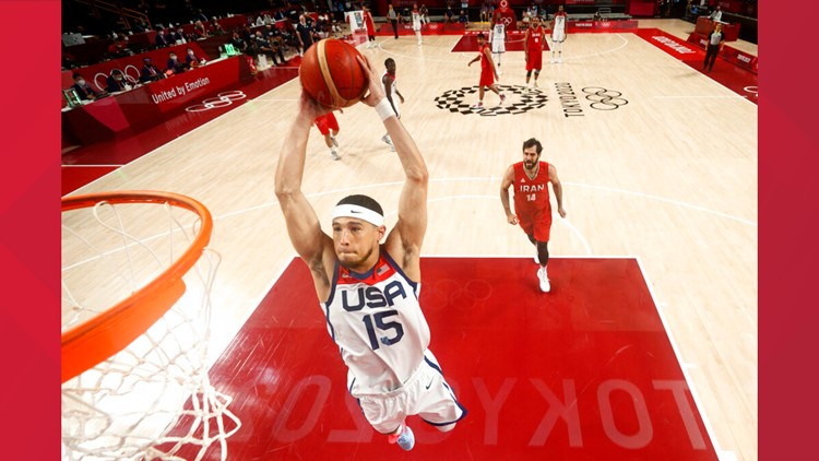 Devin Booker second-highest scorer in Team USA Olympic win against Iran