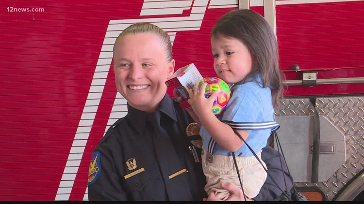 Phoenix boy who nearly drowned in April meets first responders who helped save his life