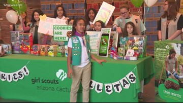 Girl scout cookie kickoff