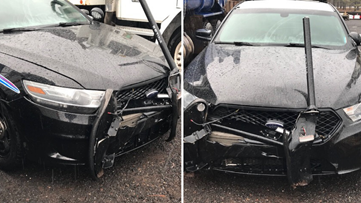 Man charged with assaulting an officer in Flagstaff after crashing into patrol vehicle multiple times