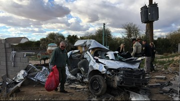 3 dead, 1 arrested after car crashes while fleeing deputy in San Tan Valley