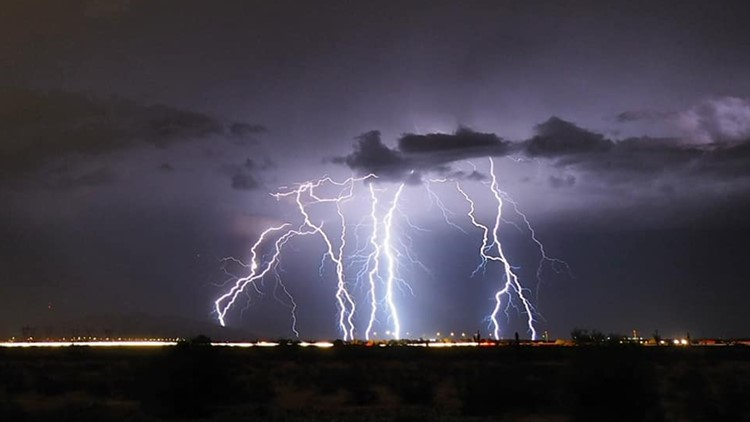 Monsoon storms drop rain on most of the Valley Monday night