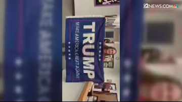 RAW VIDEO: Perry HS mom's confrontation with school administrators over Trump banner