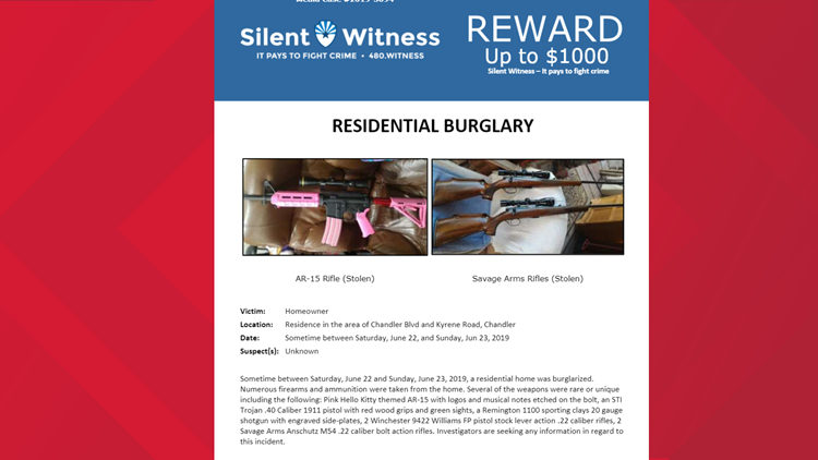 Silent Witness stolen guns