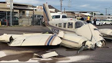 Video shows plane making emergency  landing on street near Deer Valley Airport