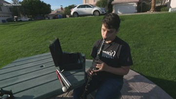 Blind Gilbert teen with dream to play National Anthem at D-backs game to play it on Opening Day
