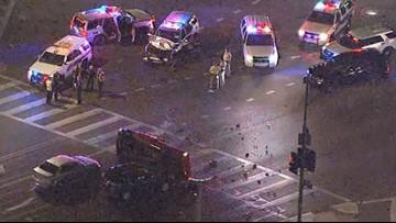 Burglary suspect crashes into DPS trooper vehicle in Phoenix