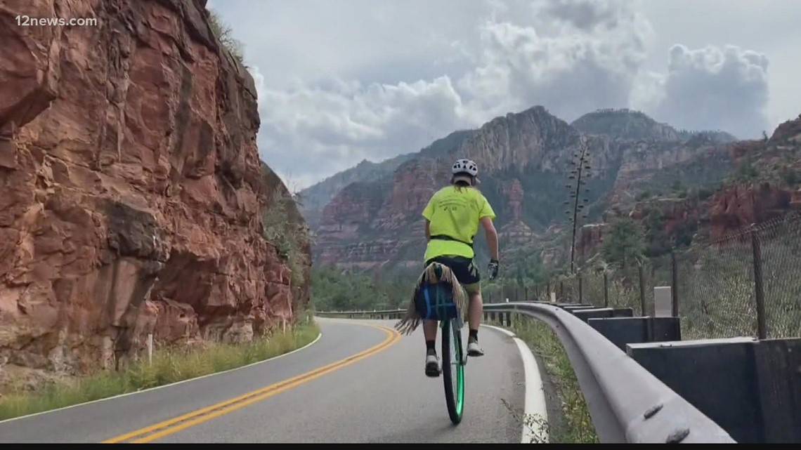 Man completes 1,600-mile journey on unicycle to prove a point