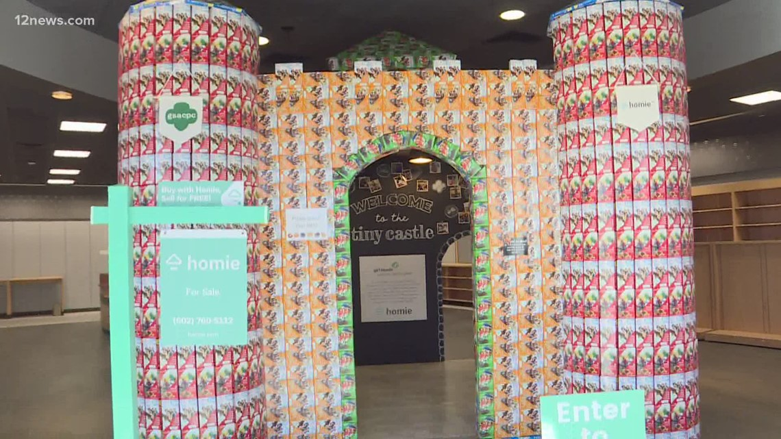 Valley Girl Scout builds a cookie castle fit for a princess