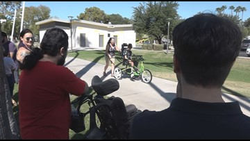 Valley companies replace adaptive bike for teen with special needs