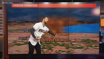 D-backs' Steven Souza Jr. tries his hand at weather forecasting