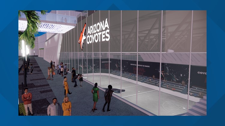 Renderings released of Arizona Coyotes possible new arena in Tempe