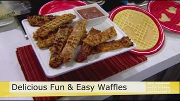 Celebrate International Waffle Day with Jan's Mozzarella Stick Waffles