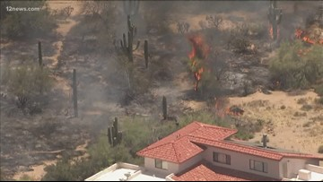North Scottsdale fire sparks close to home