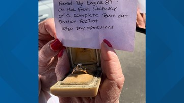 Los Angeles firefighters reunite woman with wedding ring lost in wildfire… again