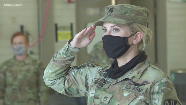 Arizona National Guard members get one last send-off from retiring commander