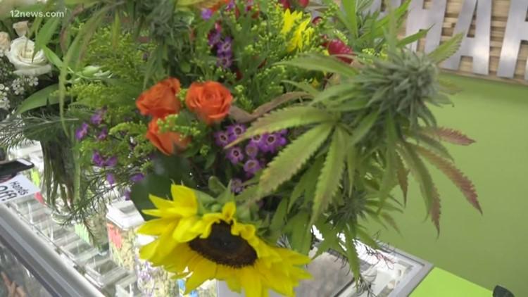 Cannabis flower arrangements a growing trend