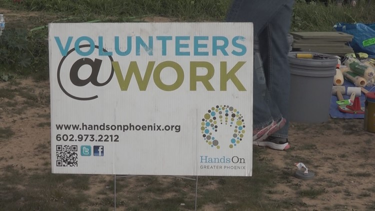 volunteers hands on phoenix