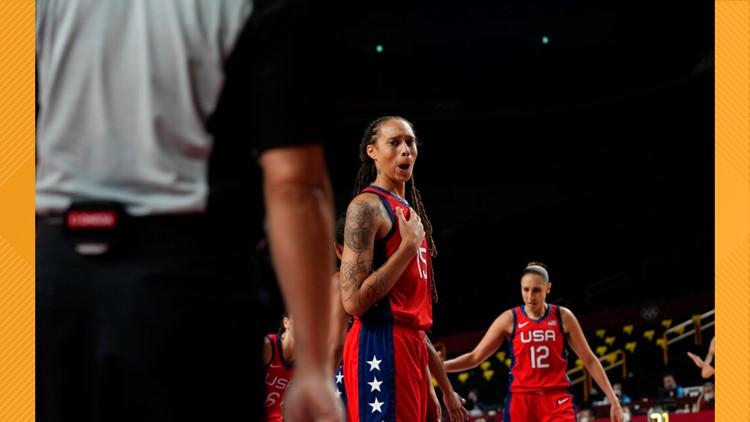 Phoenix Mercury players lead U.S. women's basketball to first Tokyo Olympic win.