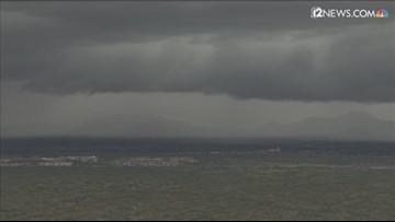 Sky 12 captures heavy downpour over Phoenix area