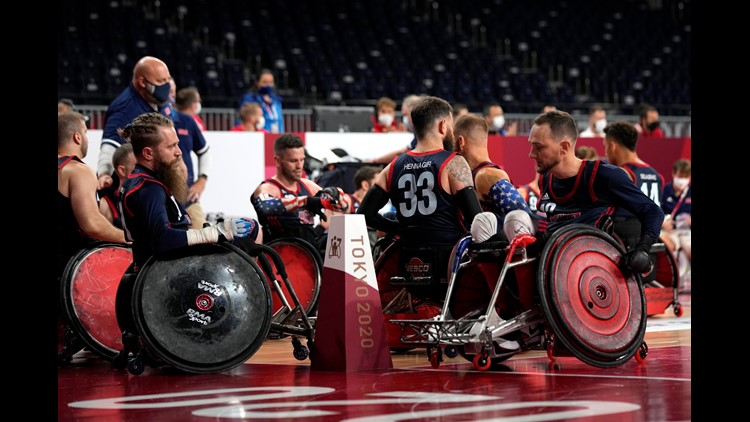 U.S. wheelchair rugby team, including 3 Arizonans, wins silver medal after loss to Britain