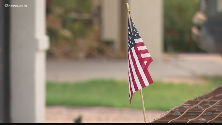Veteran has American flag stolen out of his yard, Tempe police searching for suspect