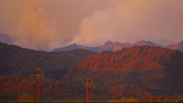 Community meeting planned as Woodbury Fire continues to burn in Superstition Mountains
