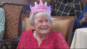 Sun City woman celebrates 105th birthday
