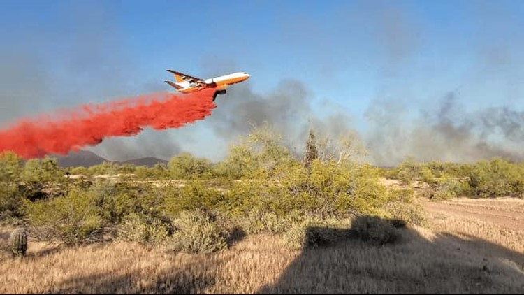 Crews battling 420-acre wildfire west of Wittmann