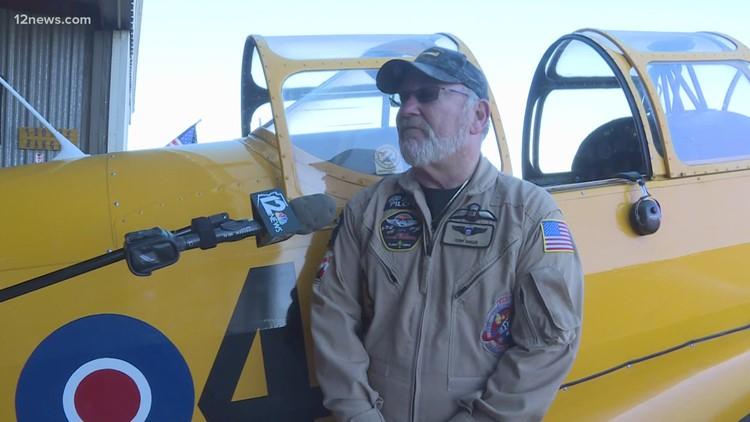Valley WWII veteran takes special birthday flight in vintage war plane