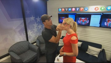 Seinfeld's 'Puddy' paints Krystle Henderson's face before
