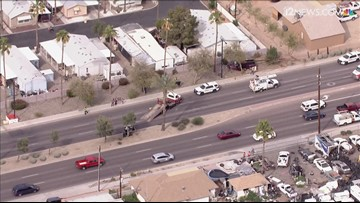 Rollover crash in Glendale results in power pole down